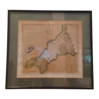 Original 1804 County Map Cornwall England Great Britain For Sale