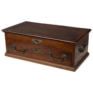18th Century French Jewelry Walnut Box For Sale