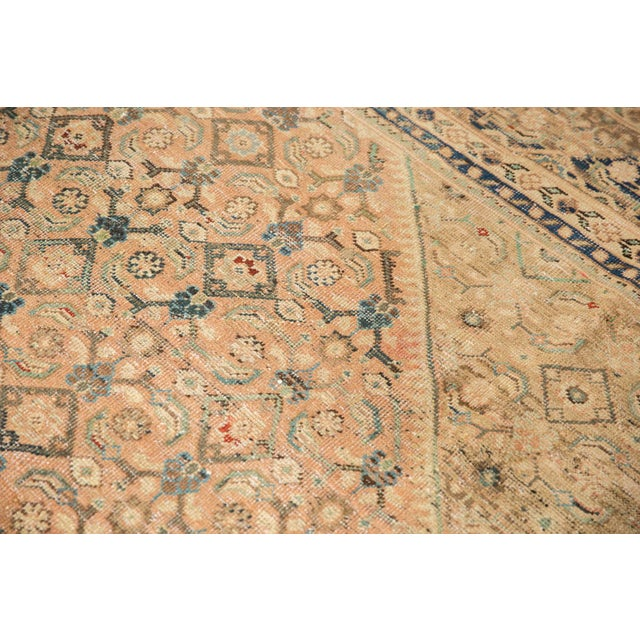 """Vintage Distressed Mahal Carpet - 9'9"""" X 12'8"""" For Sale In New York - Image 6 of 13"""