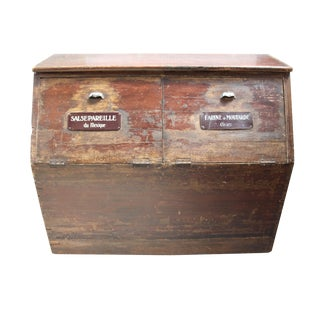 19th-C. French Flour Bin For Sale