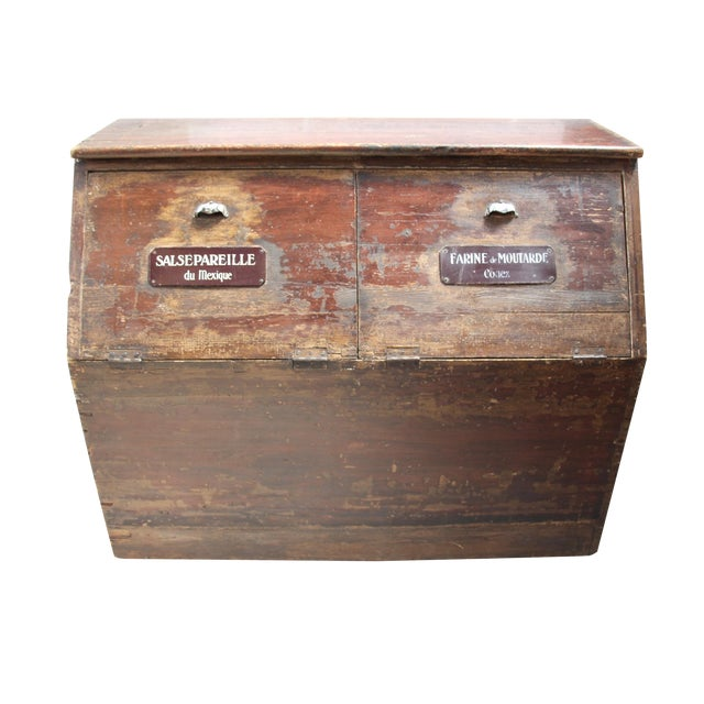 19th-C. French Flour Bin - Image 1 of 8