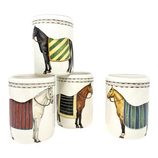 Devon Tumbler with Horse, Set of 4 For Sale
