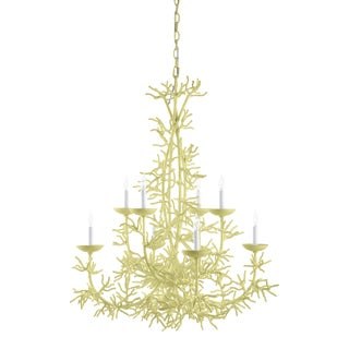 Calypso Chandelier, Pale Avacado For Sale