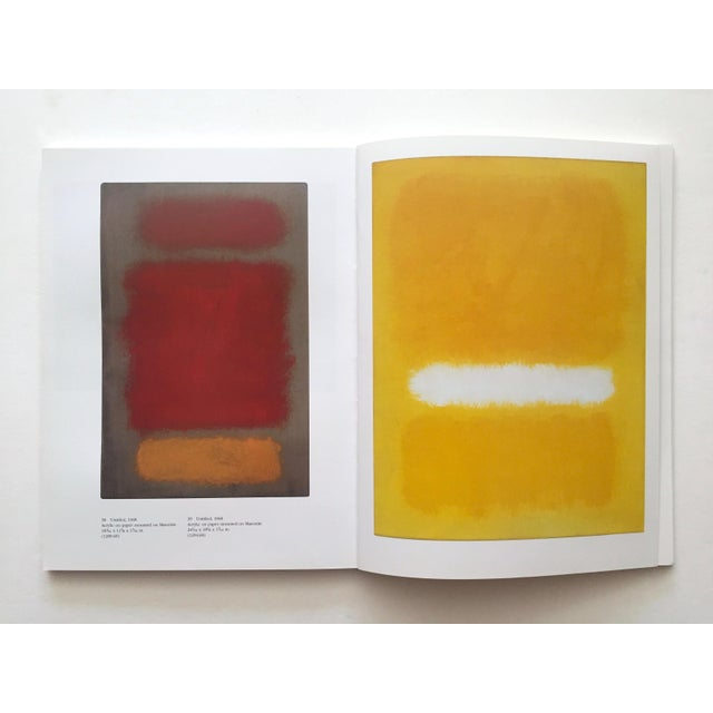""""""" Mark Rothko : Works on Paper """" Vintage 1984 1st Edtn Abstract Expressionist Lithograph Print Exhibition Art Book For Sale - Image 12 of 13"""