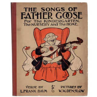 "1909 ""The Songs of Father Goose"" Coffee Table Book For Sale"