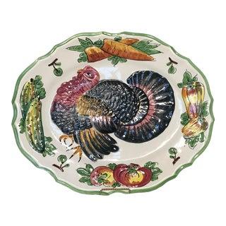 Vintage Italian Turkey Platter For Sale