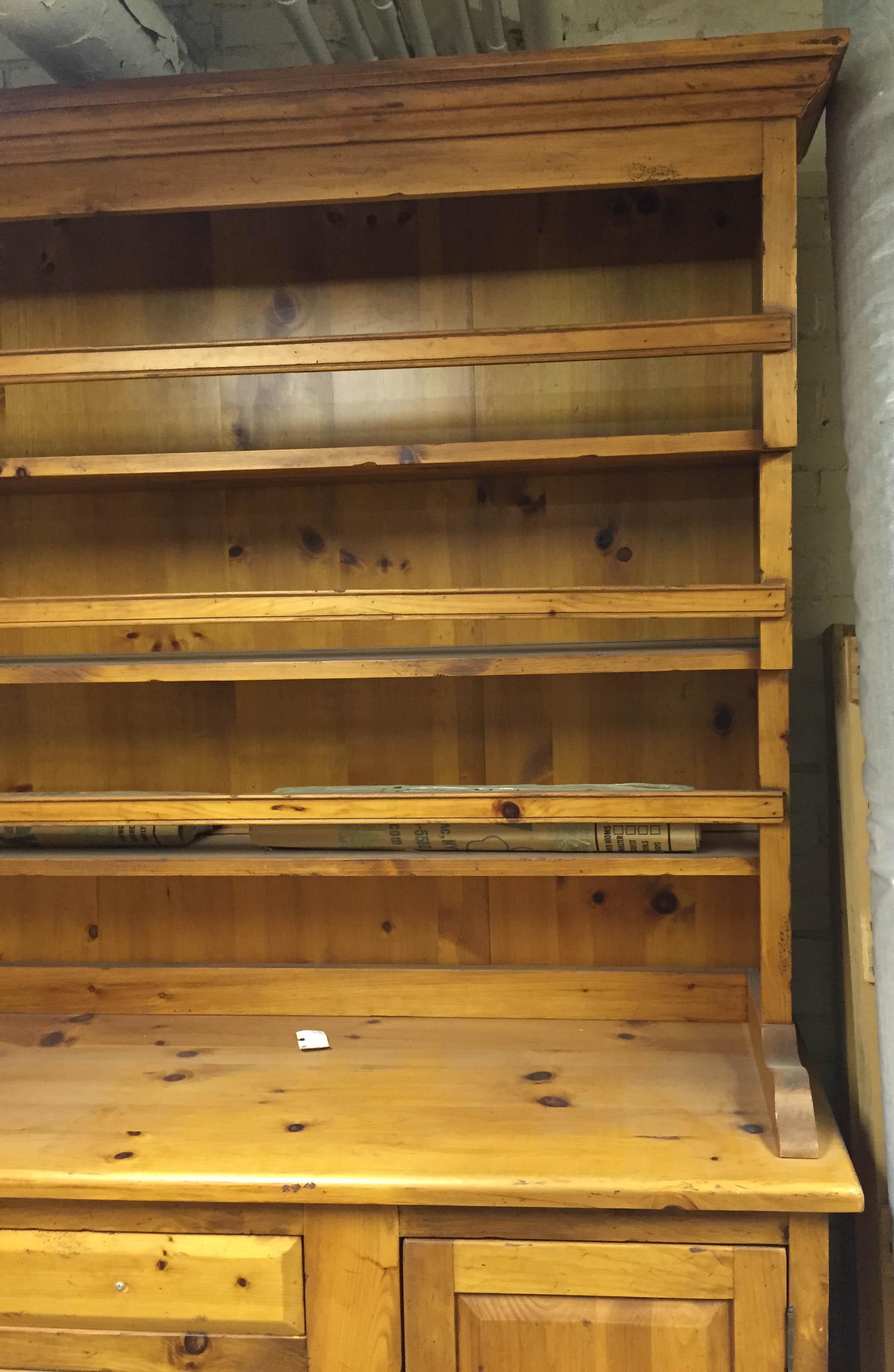Antique Pine Welsh Kitchen Dresser & Display Hutch