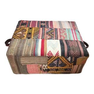 Turkish Floor Hassock Pouf For Sale