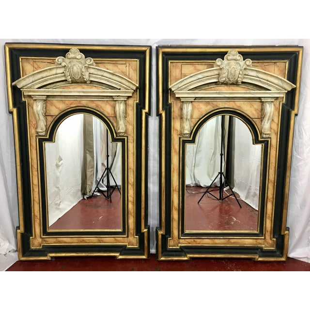 Late 18th Century Italian 18th Century Neoclassical Mirrors a Pair For Sale - Image 5 of 5