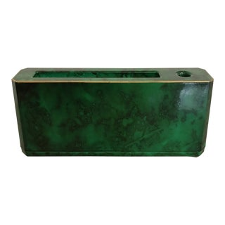 Vintage Green Lacquered Letter Holder by Otagiri For Sale