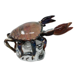 Glass Crab From Murano by Oscar Zanetti For Sale