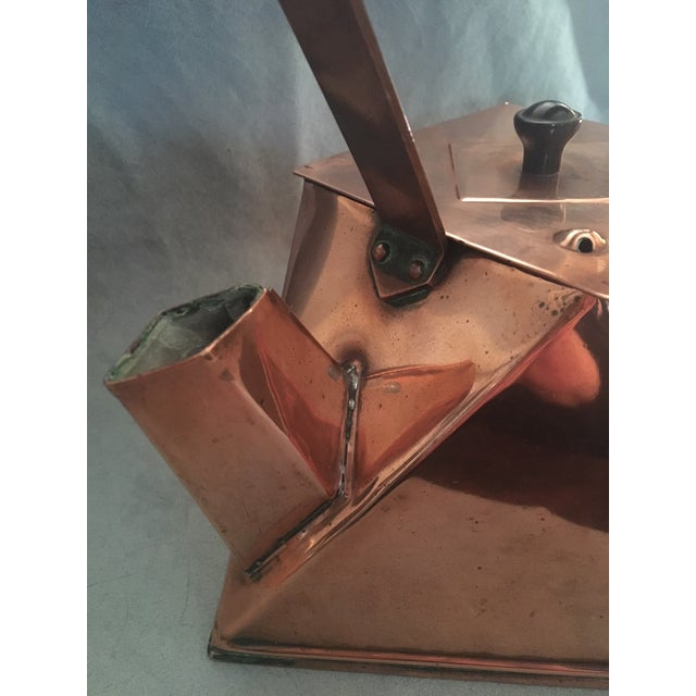Early 20th Century Cubist Copper Kettle For Sale - Image 5 of 10