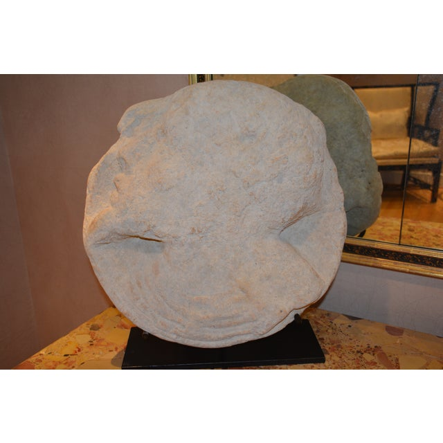 """STONE BAS-RELIEF MTD-3009 With Steel Stand 21"""" Dia."""
