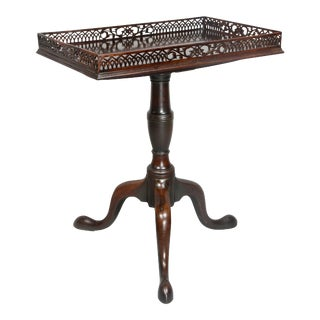 Late 18th Century George III Mahogany Tea Table For Sale