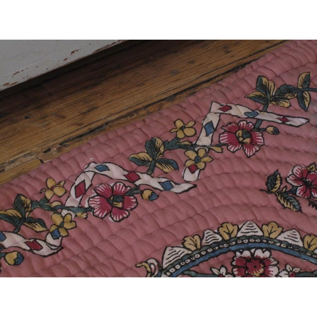 Early 20th Century Quilted Prayer Rug For Sale - Image 5 of 10