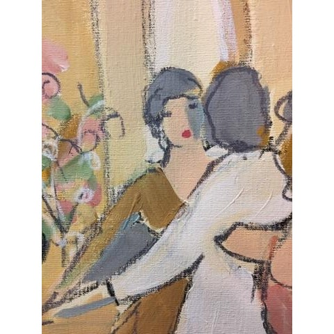 """Mid-Century Modern Original """"Vintage Wine"""" Painting by Isaac Maimon For Sale - Image 3 of 11"""