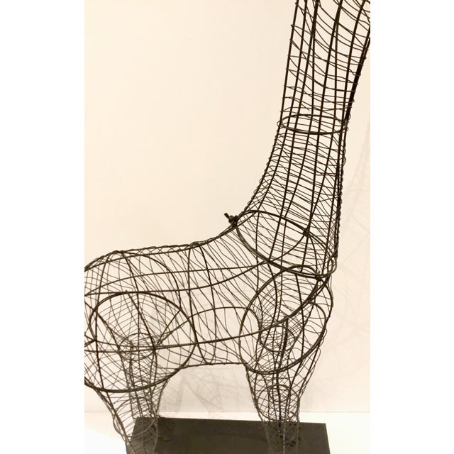 Large Modern Giraffe Wire Sculptural Floor Lamp For Sale - Image 4 of 6