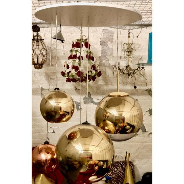 Tom dixon gold mirror ball pendant chairish tom dixon gold mirror ball pendant image 2 of 3 aloadofball Image collections