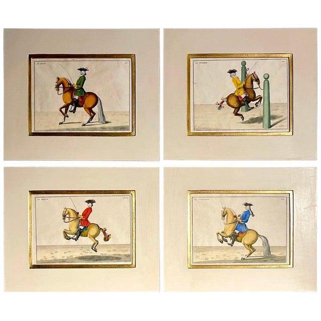 Four Engravings of Horse Riders Le Sensible, Le Royal, Le Conquerant, Le Ballon For Sale - Image 11 of 11