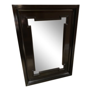 Baker Milling Road Hobart Oversized Black Lacquered Wall Mirror For Sale