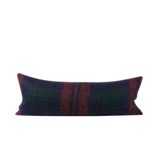 Plaid Mohair Bed Throw Pillow
