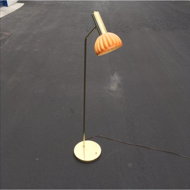 Mid-Century Brass & Acrylic Floor Lamp - Image 3 of 9