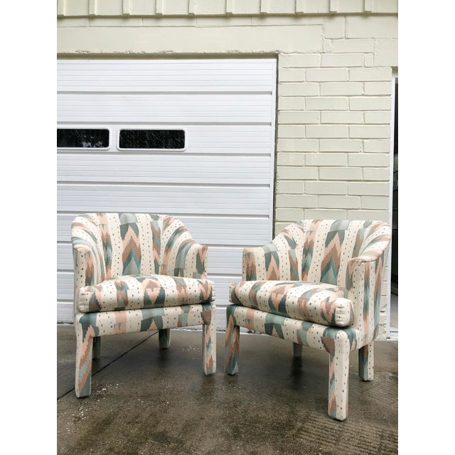 Green Clyde Pearson for Lane Upholstered Club Chairs - A Pair For Sale - Image 8 of 8