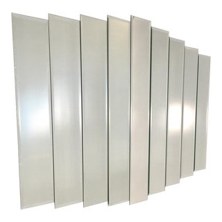 Vintage Art Deco Style Beveled 9 Step Panel Mirror For Sale