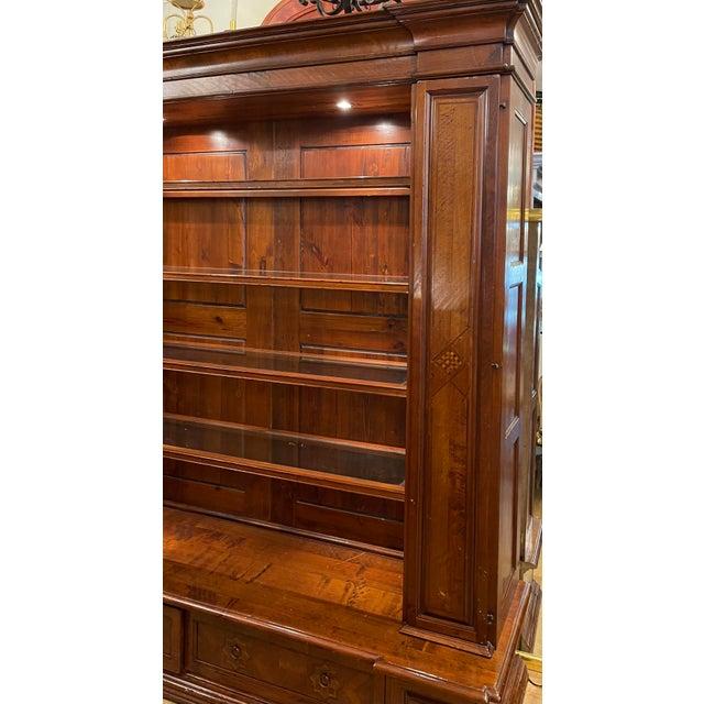 Antique Spanish Colonial Style Artitalia - Libreria Dama Open Bookcase