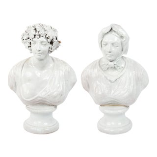 Italian Neo-Classic Terra-Cotta Busts For Sale