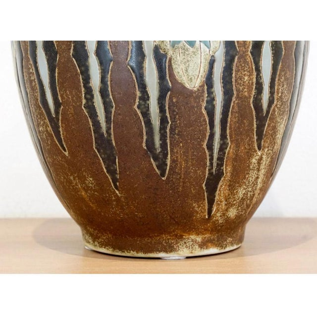 Charles Catteau for Boch Freres 1920s Charles Catteau Vase For Sale - Image 4 of 7