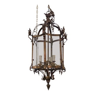 Bronze Hexagonal Hall Lantern
