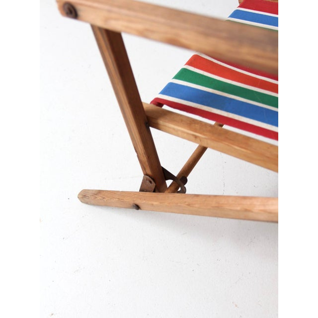 Mid-Century Kid's Folding Chair For Sale - Image 6 of 10