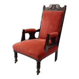 Antique Victorian Arm Chair For Sale