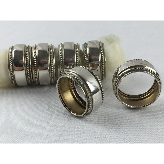 Antique Silver Napkin Rings - Set of 6 - Image 3 of 7
