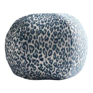Aldeco Leopard Sphere Pillow in Blue For Sale