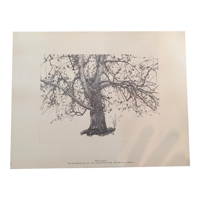 "Print of Andrew Wyeth's ""New Leaves,"" 1941 - Image 1 of 4"