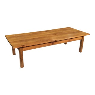 Large French Rectangular Low Table of Cherry For Sale