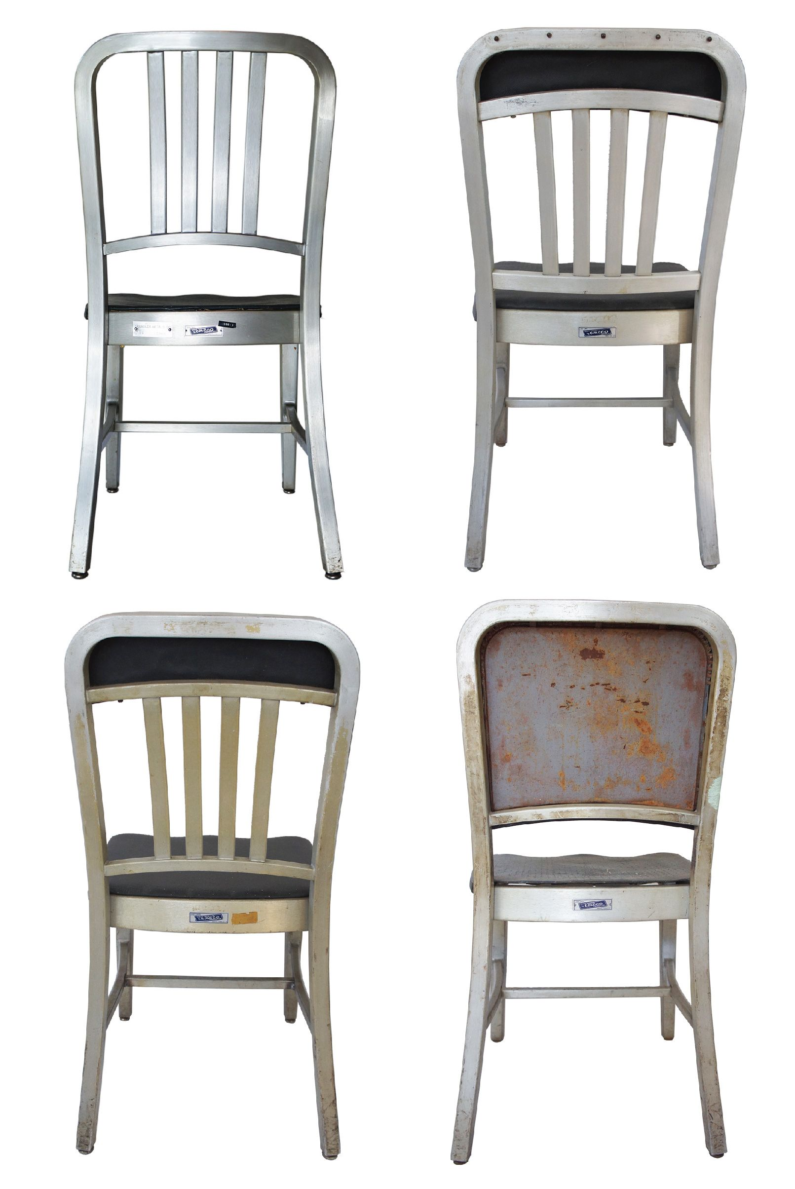 Emeco Aluminum Navy Chairs, Assorted   Set Of 4   Image 4 Of 5