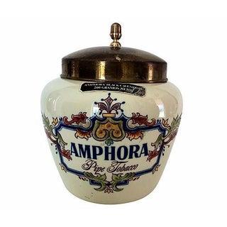 Porcelain Amphora Tobacco Ad Jar
