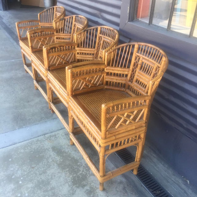 Vintage Brighton Style Rattan Chairs- Set of 4 - Image 5 of 9