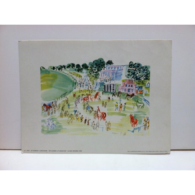 """""""Le Paddock a Longchamp Galerie Petrides"""" Paris French Print by Duffy For Sale - Image 4 of 4"""