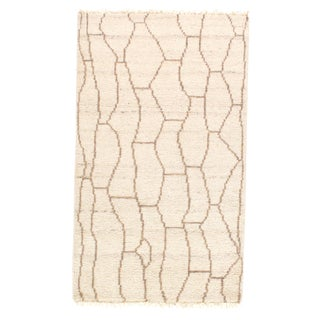 Pasargad N Y Moroccan Hand-Knotted Rug - 3' X 5′ For Sale