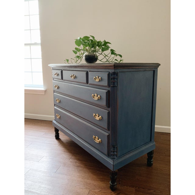 1960s Traditional Navy Dresser For Sale - Image 12 of 13