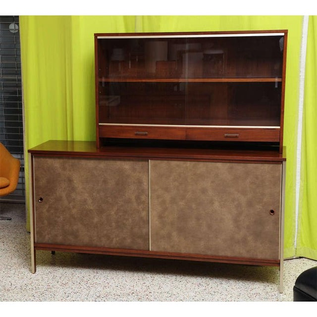 Paul McCobb Calvin Walnut Buffet with Top Cabinet - Image 2 of 8