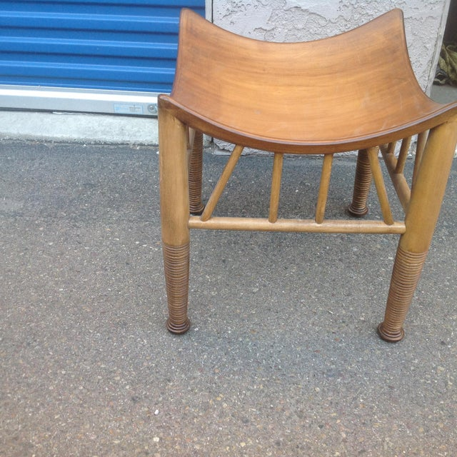 Modern Mid Century Style Stool For Sale - Image 4 of 5