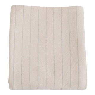 Pinstripe Blanket in Classic Grey, King For Sale