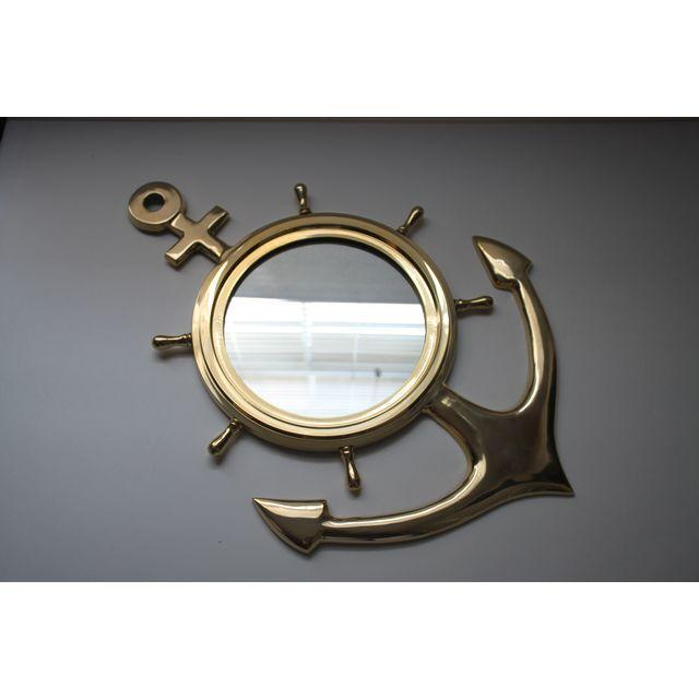 Brass Anchor Mirror - Image 2 of 3