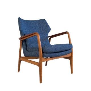 1960s Vintage Danish Teak & Oak Lounger For Sale