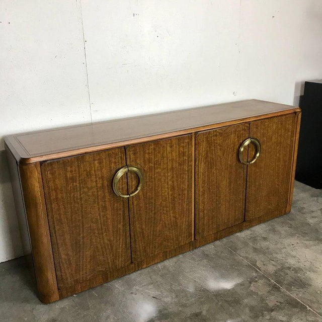 Midcentury Mahogany and Brass Credenza by Micheal Taylor for Baker For Sale In Atlanta - Image 6 of 13